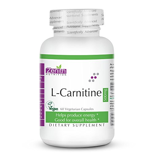 Zenith Nutrition L-Carnitine (Amino Acid for Muscle, Heart & Brain)...