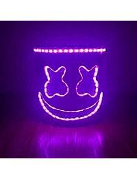 Tofree DJs máscaras de Uso para Festivales de música, Cascos, Disfraz, Fiesta, máscara de Goma, látex, máscara de Cabeza Completa Ultra Fresca Rosa Rosa