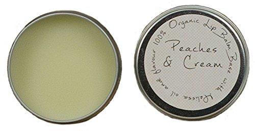 Lippenbalsam (LIP BALM) PFIRSICH (PEACHES & CREAM) auf natürlicher Basis 10ml mit Melissenöl zur Bekämpfung von Lippenherpes