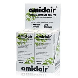 Amiclair Weekly Enzymatic Protein Remover Contact Lens Cleaning Tablets (Refill Pack 24 Tablets)
