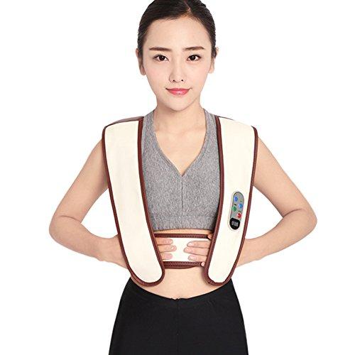 Shiatsu Nacken Schulter Tiefkneten Massagegerät Mit Hitze Und Vibrationstherapie Für Fuß Rückenschmerzen Relief Elektrische Cervix Massage Tragbare Multifunktions HMYH
