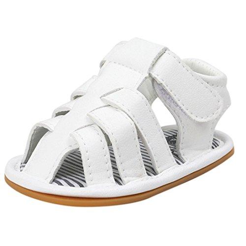 Igemy 1Paar Baby Jungen Sandalen Schuh Casual Schuhe Sneaker Anti-Rutsch Soft Sole Kleinkind Weiß