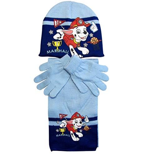Paw Patrol Mütze Handschuhe und Schal 4-7 Jahre (Hellblau, 4-7 Jahre)