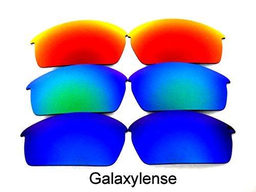 Galaxylense Ersatzgläser für Oakley Bottlecap Polarisiert für Männer oder Frauen Regular 62x1.5x35 mm Blau und grün und rot