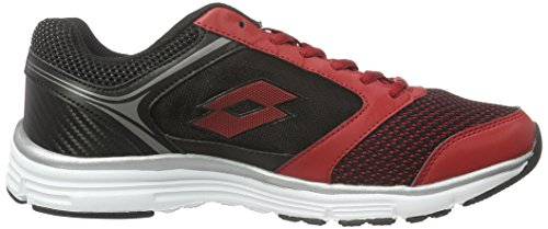 Lotto Everide Iii Amf, Chaussures de Running Entrainement Homme Rouge (Red Rsp/Blk)