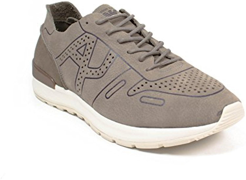 Armani Jeans Sneakers Herren 935062 7P421 + 04151 Taupe EG007935062 7P42104151_45
