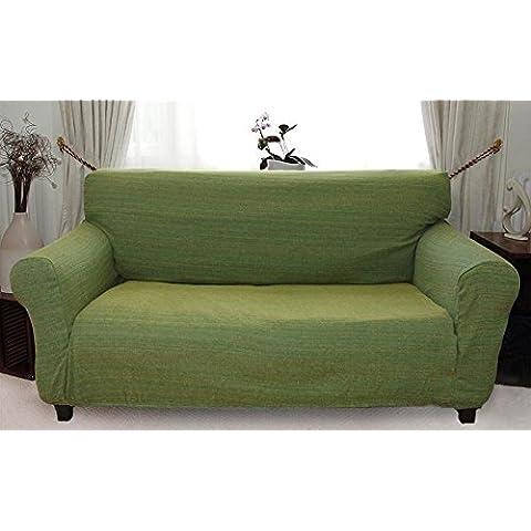 Afrique - Funda de sofá elástica (Verde) - 3 plazas (170-220cm)