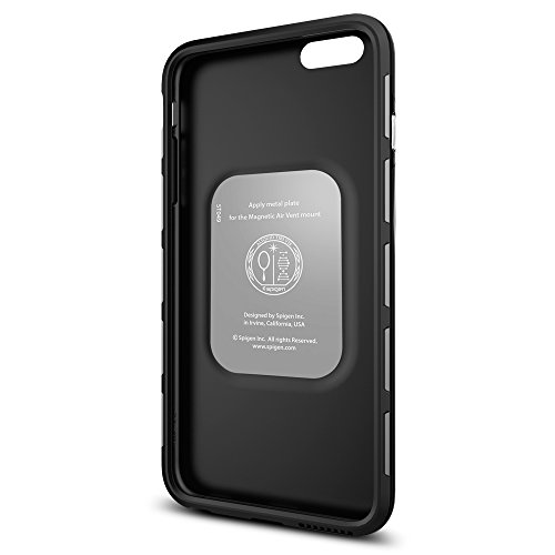 iPhone 6S Plus Hülle, Spigen® [Thin Fit Hybrid] Passgenaues [Schwarz] Premium Hart-PC Schale / Schlanke Handyhülle / Schutzhülle für iPhone 6 Plus / 6S Plus Case, iPhone 6 Plus / 6S Plus Cover - Black TFH Schwarz