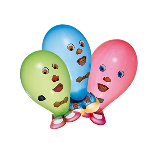 uftballons Funny Face, 6er Packung ()