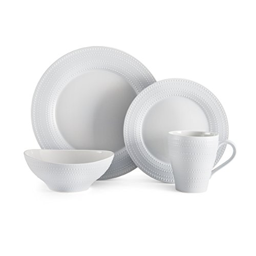4 Mikasa China (Mikasa Ryder Gray 4-Piece Place Setting, Service for 1)