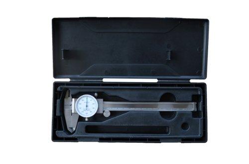 PAULIMOT Messschieber Schieblehre mit Uhr 150 mm INOX