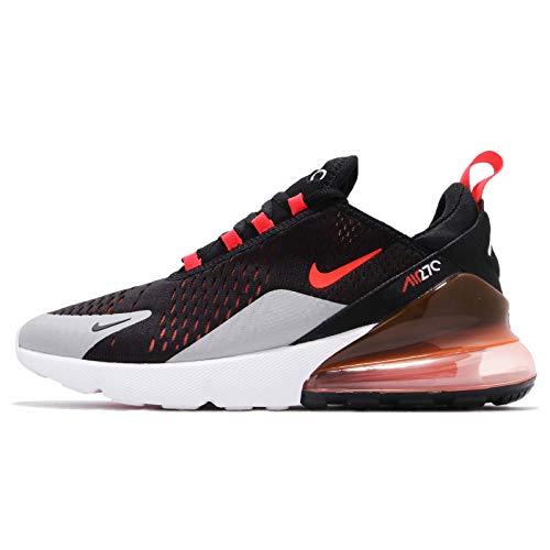 Nike Air Max 270 - Scarpe da Corsa da Uomo, Nero (Black/Bright Crimson-Hyper Crimson), 39 EU