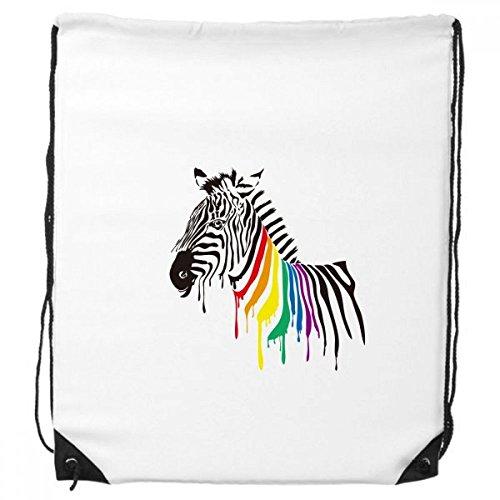 T Regenbogen-Farben-Muster-Rucksack Einkauf Geschenk Sporttaschen ()