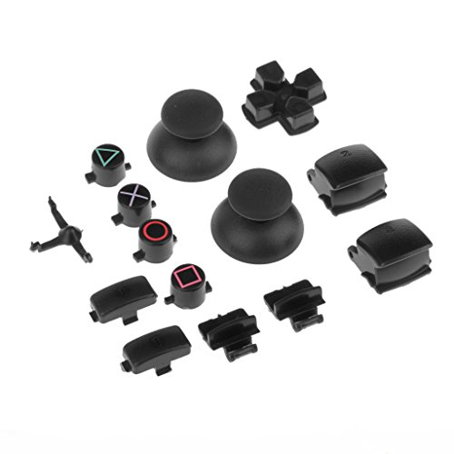 Magideal Replacement Full Housing Shell Case Mod Kit for PS3 Controller-Black