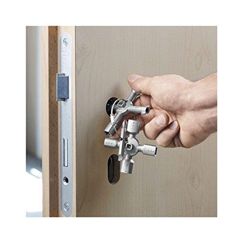 Knipex 00 11 01 TwinKey – für Schaltschränke, Fenster und Absperrsysteme - 10