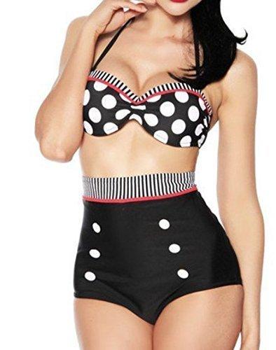 dames-belle-qualit-taille-haute-style-rtro-sg-bikini-noir-blanc-et-rouge-taille-44-46