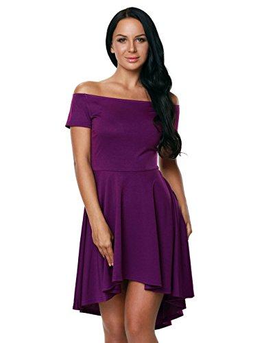 ... Pinkyee Damen Skater Kleid Violett ...