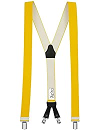 Xeira - Bretelles de haute qualité avec 4 clips - Motif de Cuir - Cuir Veritable
