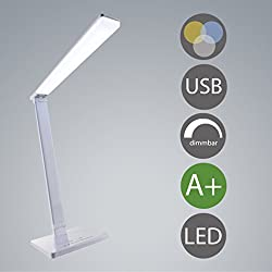 LED lámpara de escritorio USB puerto de carga regulable