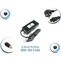 Visiodirect-Adaptador de corriente/cargador para ordenador portátil, compatible con Airis Praxis N1101