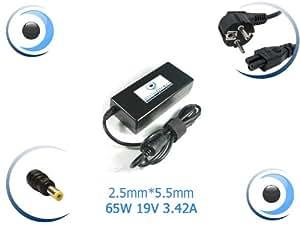 Adaptateur alimentation chargeur pour ordinateur portable Toshiba PA3396E Input 100-240V / 1.6A / 50-60 Hz Output 19V / 3.42A - Visiodirect