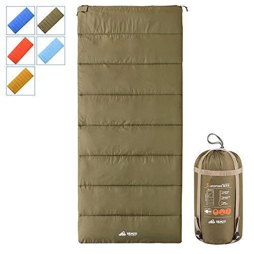 Semoo Leicht Schlafsack, tragbar, wasserdicht, ideal für Frühling und Sommer auf Reisen, Camping, Wandern und Outdoor-Aktivitäten