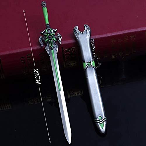 LTKJ Keine Klinge Klassischen Chinesischen Stil Schwert Metall Waffe Säbel Modell Action Figure Geschenk Schlüsselanhänger Spielzeug (F) -