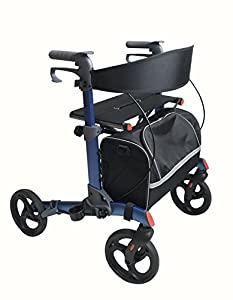 Simplelife Lightweight Aluminium Double Folding Rollator with Shopping Bag