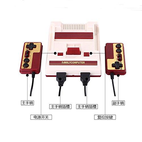 Zantec Spielkonsole, Mini TV Familie Spielkonsole mit 2 Controller 8 Bit Retro Video Spielkonsole Eingebaut 600 Spiele Handheld Gaming Player