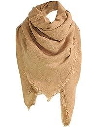 MRULIC Echarpes foulards femme Grande Taille Femme Homme Echarpe Hiver  Chaud en Cachemire Imitation Carreaux Doux 08620072994