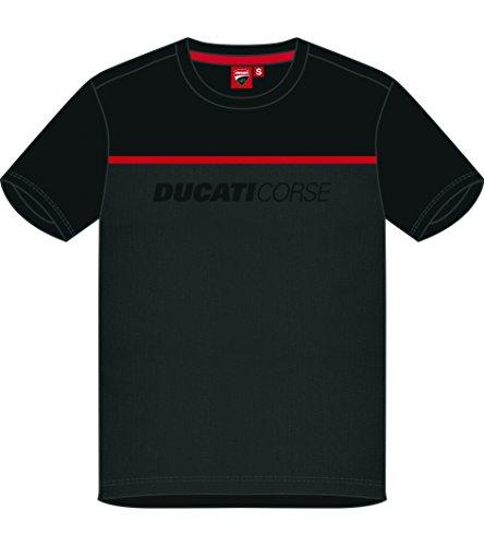 pritelli 1836005/L Camiseta Hombre Ducati Corse, Negro, Talla L