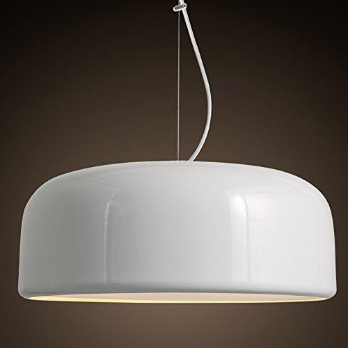 BBSLT Moderno bianco e nero soggiorno ristorante succhiare Nordic cucina sala da pranzo lampadario appeso lampada per illuminazione di personalità 450*190mm , bianco - Vaso Appeso Catena