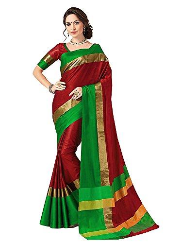 SAREE MALL Womens art silk Saree with blouse (sarees offer below 500 rs_2AURA2003_1)