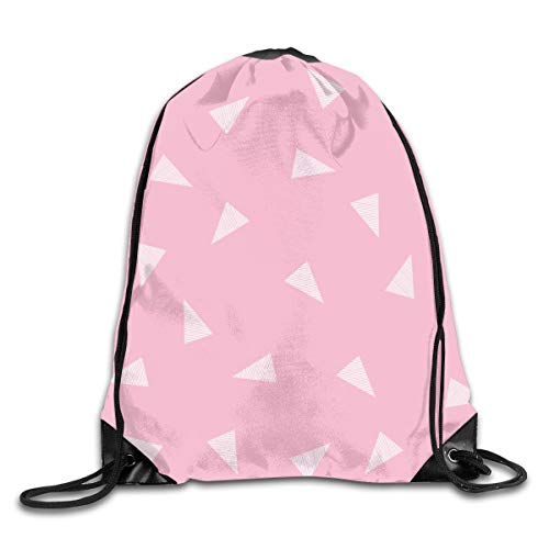 show best Bunny Rabbit Pink Baby Nursery Cute Baby Design Drawstring Gym Bag for Women and Men Polyester Gym Sack String Backpack for Sport Workout, School, Travel, Books 14.17 X 16.9 inch