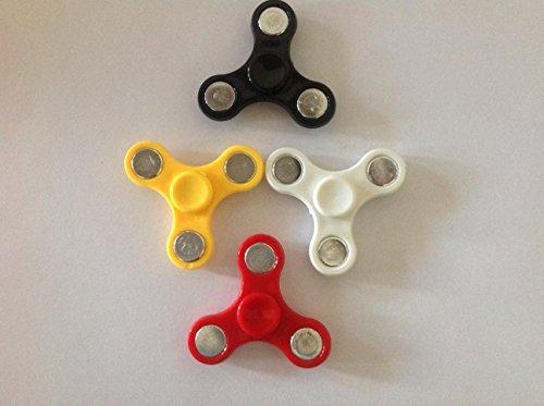 XiaoXiMi EDC Tri Fidget Finger Spinner per Bambini e Adulti Rotazione 1-2 Minuto Finger Spinner Toy Filatore Mano Durevole con Cuscinetto Ceramica in Acciaio Inox Stress Ansia Riduttore ADD Mente ADHD Concentrazione - Colore: Nero