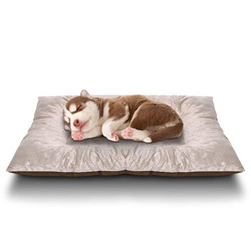 Katze/Hundebett Sailnovo Hundekissen Hundematte Hundematratze Tierbett Waschbar Abnehmbar Hygienisch und Rutschfest Schlafplatz Weiche Hellbraun , 72 x 50 x 9