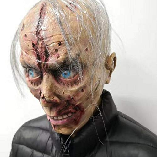 JOKOP Horror Gruselig Latex Masken Halloween Resident Evil Monster Walking Dead Vollkopf Maske für Kostüm Karneval Cosplay Erwachsene Party - Dead Disco Kostüm