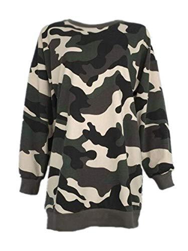 Sweatshirt Damen Pullover Pullis Shirt Langarm Löcher Cher Classic Crewneck Sweatshirts Pulli Langarmshirt Camouflage Modisch Oberteile Sweat Lang Tops Frauen Coole Männer Dchen Kleidung