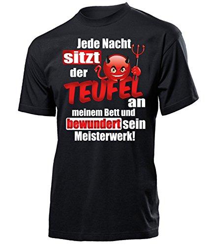 Comedy - JEDE NACHT SITZT DER TEUFEL AN MEINEM BETT UND BEWUNDERT SEIN MEISTERWERK 5115(H-SW) Gr. L