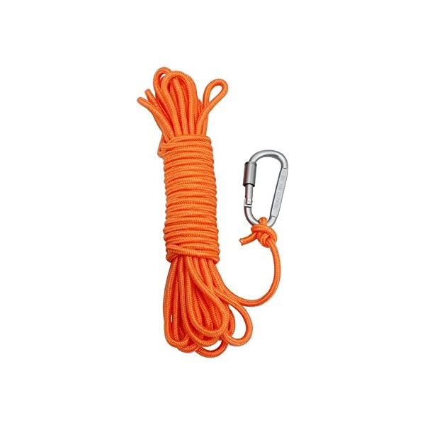 BeGrit 10 m 20 m 30 m Floating Rope Anchor Mooring Rope Multifunction Rope 6 mm Kayak Canoe Tow Throw Line with Aluminum… 1