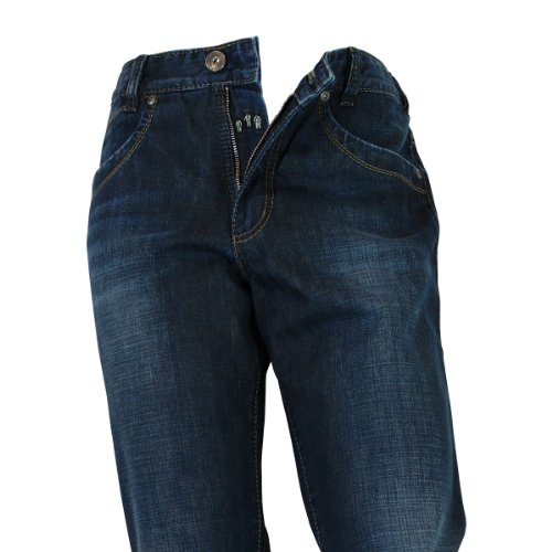 JOKER Jeans Freddy man made brown-blue used brown-blue used
