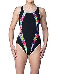 a1fd2b3645 Maru Women's Reflect Pacer Panel Vault Back Swimsuit Black