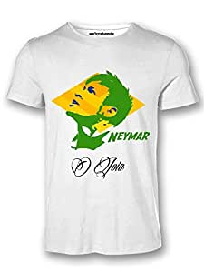 Sportskeeda Brazil Neymar Jr. WC 14 Football T-shirt White - XXL