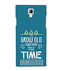 Die Grow Time Trees 3D Hard Polycarbonate Designer Back Case Cover for Micromax Canvas Xpress A99