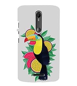 iFasho wood peacker Bird sitting animated design Back Case Cover for Motorola MOTO X3
