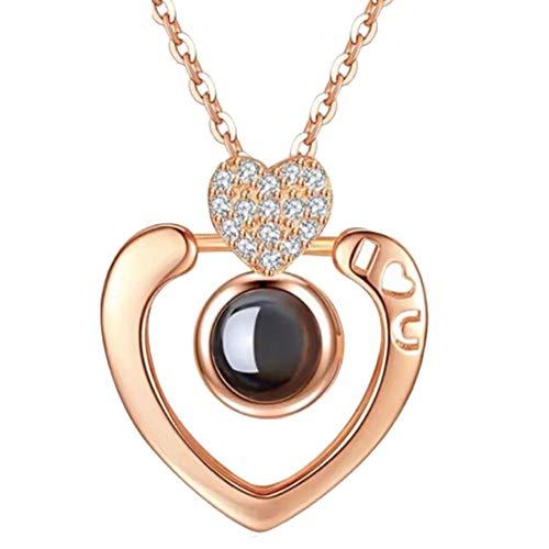 OSLEI Ketten für Damen Sterling Silber kette mit Herz Anhänger Halskette Sterlingsilber Damenschmuck Y-Ketten Fashion Schmuck Geschenk