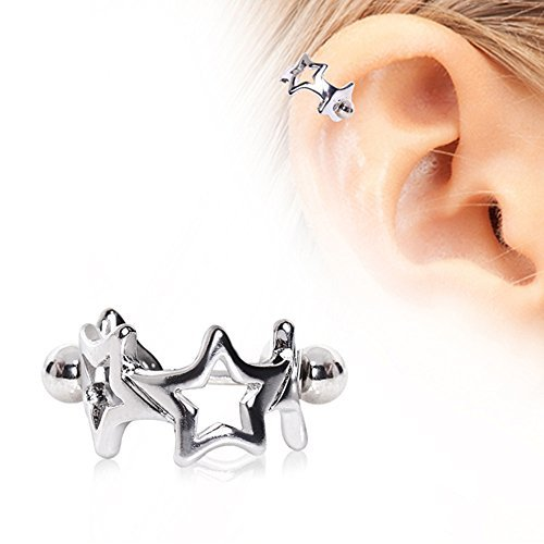 5d23e1bdd Interlocked Stars Cartilage Cuff 316L Surgical Steel by WildKlass Jewelry -  Buy Online in Oman. | Jewellery Products in Oman - See Prices, Reviews and  Free ...