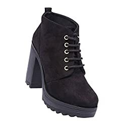 Catwalk Womens Black Suede Boots (202917725) - 6 UK