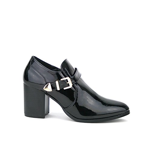 Cendriyon, Bottine vernie Noire LORABA Mode Chaussures Femme Noir