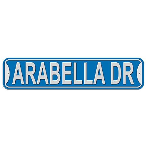 Arabella Schild–Kunststoff Wand Tür Street Road weiblich Name, plastik, blau, Drive